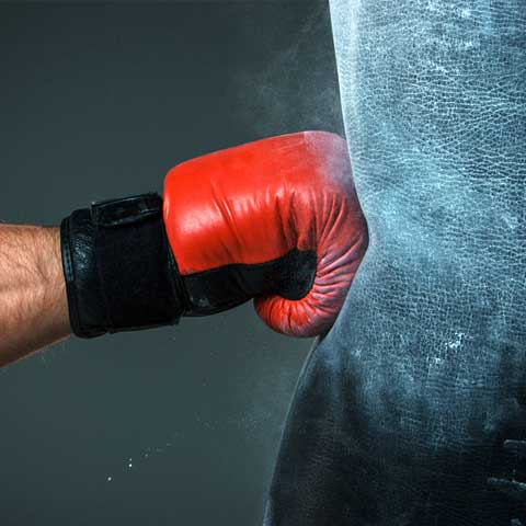 Boxing, punching bag
