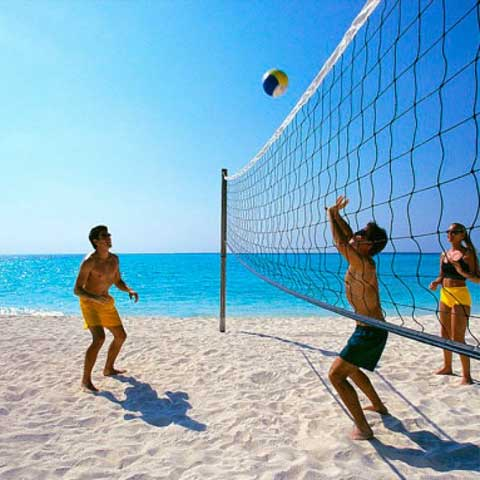 Volleyball, beach, in sand