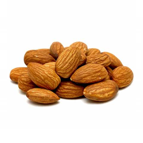 Nuts, almonds, dry roasted, with salt added