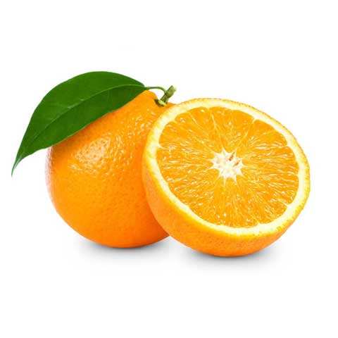 Oranges, raw, with peel